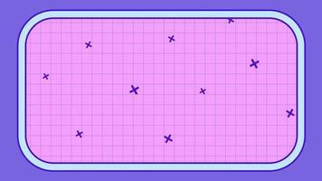 patrón de cuadrícula estilo retro juego de fondo