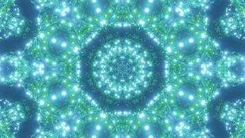 vj Schleife 3d Illustration grüne abstrakte Sternimplosion