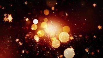 brilhos dourados luzes brilhantes natal inverno flocos de neve caindo