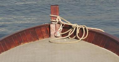 Wooden Fishing Boat And The Sea video