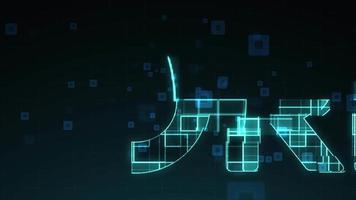 plantilla de apertura en concepto de núcleo digital.