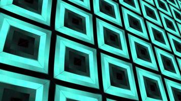 Loop green blue gradient 3D geometric tile pattern