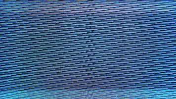 tela de tv com ruído estático video