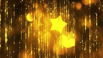 stelle gialle con particelle in sfondo nero