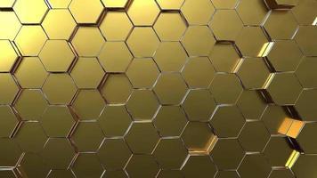 fond de mouvement en nid d'abeille hexagonal doré