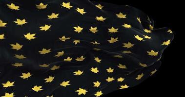 pano voador com padrão de folhas de bordo