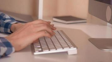 Closeup of A Businesswoman's Hands Typing on A Keyboard video