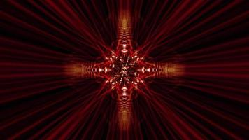 Looped sci-fi complex red radiant rays kaleidoscope effects