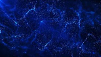 particelle blu scure galleggianti sullo sfondo