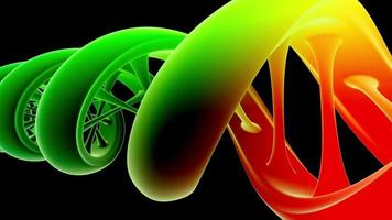 3D Animated DNA Strand