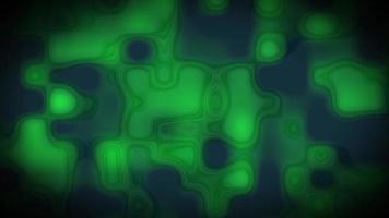 vj loop 3d ilustración abstracto verde formas y formas visuales