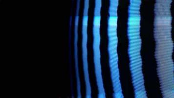 close-up de ruído estático analógico na tv antiga video