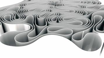 Abstract White Wavy Paper Spline Morphing Movement video