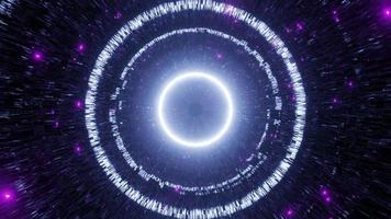 VJ Loop 3d Illustration Reflective Abstract Space Tunnel