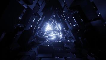 tunnel de l'espace triangle vj boucle 3d avec texture