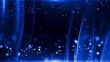 dunkelblauer Hintergrund mit leuchtenden Partikeln