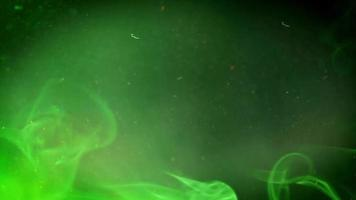 Abstract green smoky