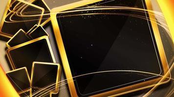 cornici quadrate nere oro astratte