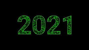 movimiento abstracto año nuevo y navidad 2021 fondo. video