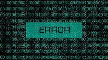 erro de código binário