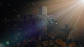 Shine Cross Particles