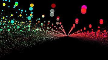 arco-íris futurístico com milhões de partículas brilhantes forma de onda