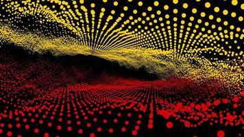 bola futurística de dimensão de forma de onda amarela abstrata