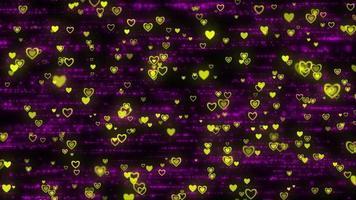 patículas de coração amarelas