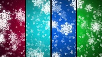 fond de flocon de neige coloré