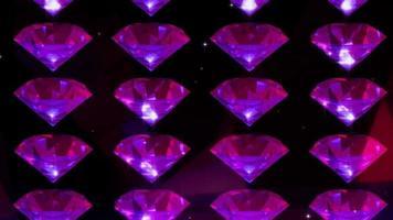 partículas de diamantes morados