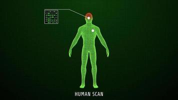 Hologram of human scanning for medical. video