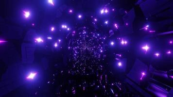 Túnel de néon fantasia mágica com luzes de néon rosa