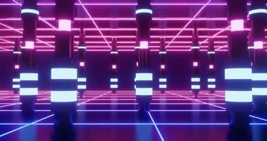 movimento de loop sem costura de pilares brilhantes. video