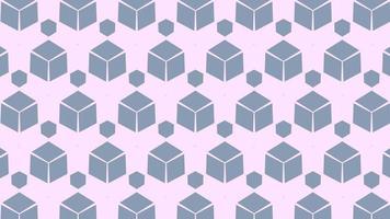 Fondo geométrico de estilo retro abstracto video