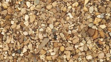 close up de pedras de cascalho video