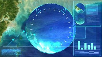 boule de cristal de verre et radar enquêtent sur la géologie