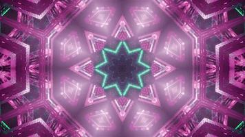 Cool abstract science fiction star kaleidoscope