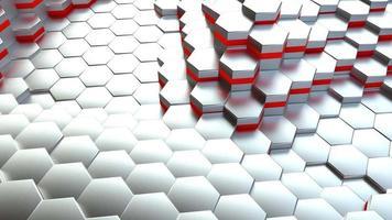Abstract hexagon 3d rendering video