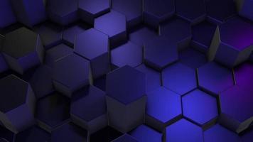 Fondo de hexágonos azul brillo metálico