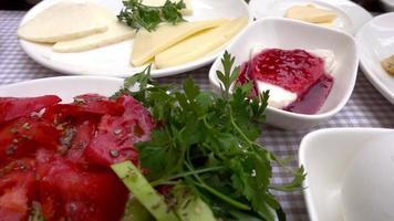 desayuno tradicional turco video