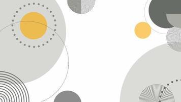 sinal de rede digital de círculos tecnológicos