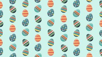 Animation of Patterned Easter Eggs video