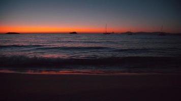 Ilha Balear de Formentera logo após o pôr do sol