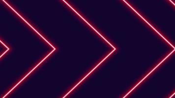 animazione delle frecce al neon