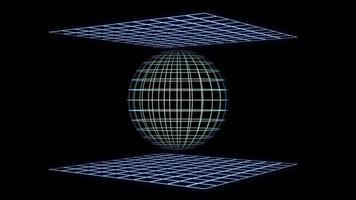 gráficos de ciencia ficción de cuadrícula holográfica