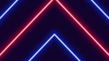 animação de setas brilhantes de néon