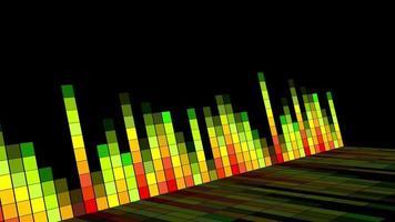 fundo de onda de rádio de som