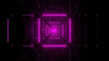 caindo em um poço de elevador 3D renderização vj loop