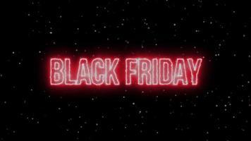 animação brilhante néon preto de sexta-feira