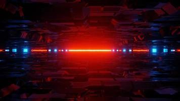 fundo 3d do corredor futurista de ficção científica